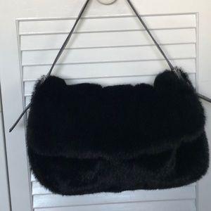 Black faux fur handbag. Great condition!